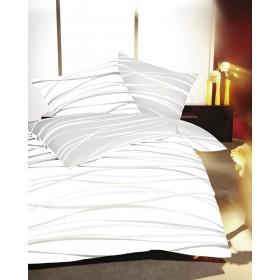 Makosaténové povlečení Motion krémové 200x220, 2ks 70x90 FRANCIE