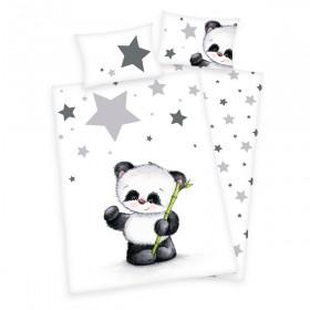 Flanelové obliečky do postýlky Panda - 100x135, 40x60
