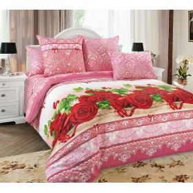 Povlečení Růže 3D 140x200, 70x90 - 100% bavlna - perkal