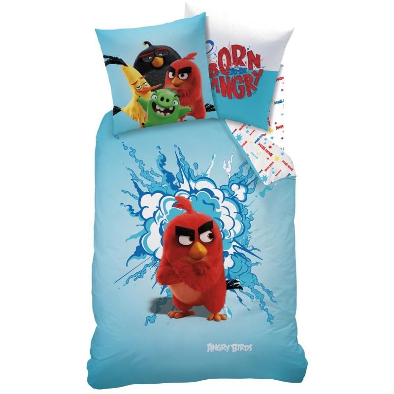 Povlečení Angry Birds RED -  140x200, 70x90, 100% bavlna