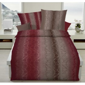 Obliečky makosatén Grace - burgund  140x200, 70x90