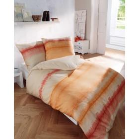 Flanelové obliečky Echo oranžové 140x200, 70x90