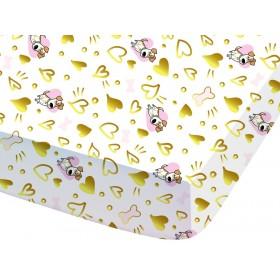 Prostěradlo Tajný život mazlíčků LOVE - 90x190/200 cm, 100% bavlna