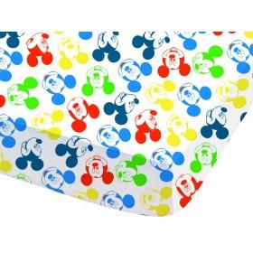 Prostěradlo Mickey Expression - 90x190/200 cm, 100% bavlna