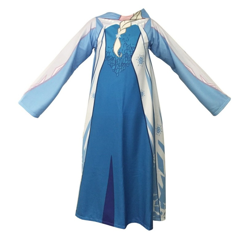 Fleecová deka Frozen s rukávy jako šaty - 118x138