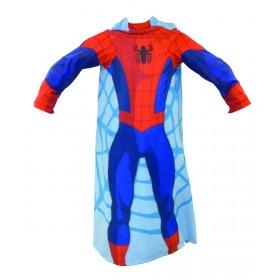 Fleecová deka Spiderman s rukávy - 118x138