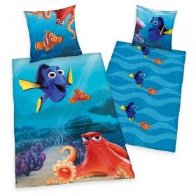 Flanelové povlečení Hledá se Nemo a Dory - 135x200, 80x80