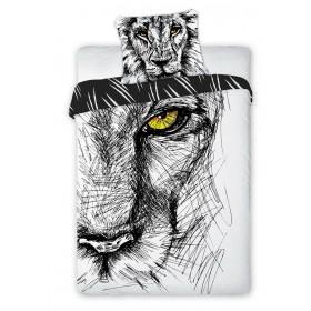 Obliečky Lev kreslený - 140x200, 70x80, 100% bavlna