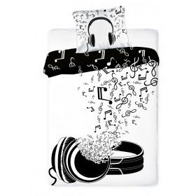 Povlečení Music Noty - 140x200, 70x80, 100% bavlna