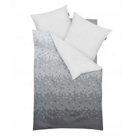 Prodloužené makosaténové obliečky Remix Silber - 140x220, 70x90