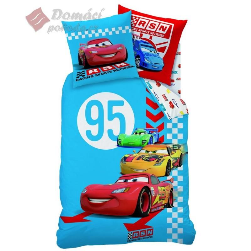 Povlečení Cars Red Tire - 140x200, 70x90