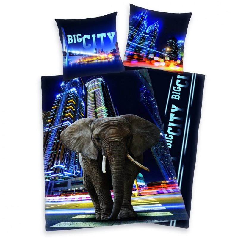 Povlečení Big City Elephant - 140x200, 70x90
