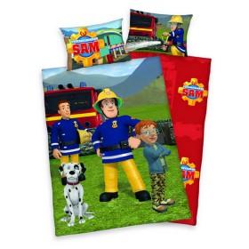 Flanelové obliečky do postýlky Požárník Sam - 100x135, 40x60