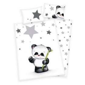 Povlečení do postýlky Panda a hvězdičky - 100x135, 40x60, 100% bavlna