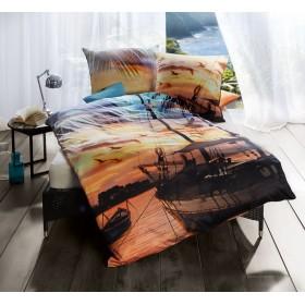 Makosaténové obliečky Away sonne - 140x200, 70x90