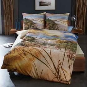 Makosaténové obliečky Duny natur - 140x200, 70x90