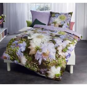 Makosaténové obliečky Scabiosa fialková - 140x200, 70x90