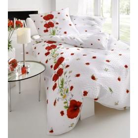 Krepové obliečky Red Poppy, 140x200, 70x90