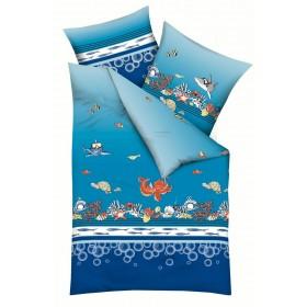 Bavlněné obliečky Mořský ráj, 140x200, 70x90