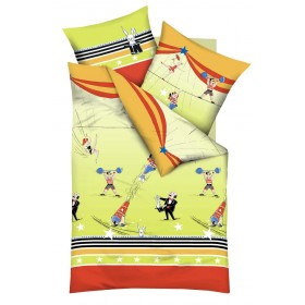 Bavlněné obliečky do malé postýlky Život v cirkuse, 100x135, 40x60