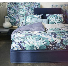 Luxusní povlečení Essenza Nishi blue - 140x200, 70x90