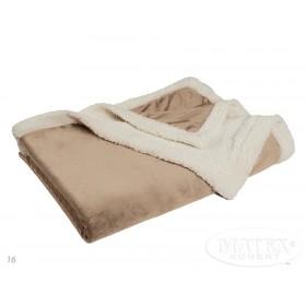 Oboustranná mikroplyšová deka Dolly béžová - 150x200 cm
