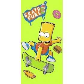 Osuška Bart Simpson limetka JF  - 75x150 cm, 100% bavlna