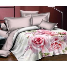 Povlečení Desire růžové 3D 140x200, 70x90 - bavlněný satén