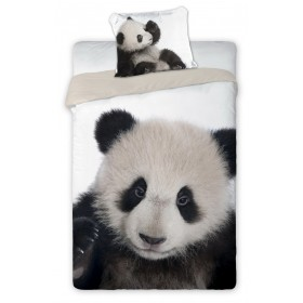 Obliečky Panda - 140x200, 70x90, 100% bavlna