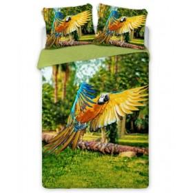 Povlečení Papoušek - 140x200, 70x90, 100% bavlna perkal