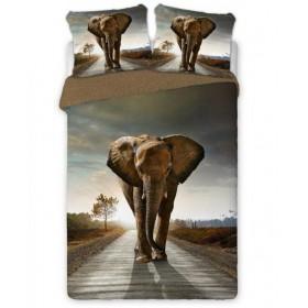 Povlečení Kráčející slon - 140x200, 70x90, 100% bavlna perkal