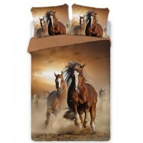 Obliečky Stádo koní - 140x200, 100% bavlna perkal