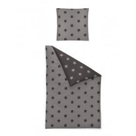 Flanelové obliečky Irisette Hviezdy šedé DUBLIN 8658-60 140x200, 70x90