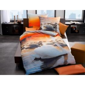Makosaténové obliečky Swan sonne - 140x200, 70x90