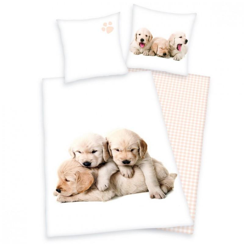 Povlečení Štěňátka labradora - 140x200, 70x90 - 100% bavlna